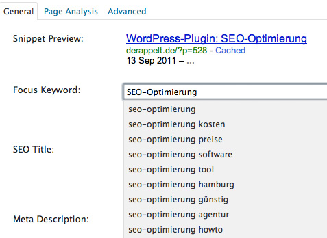 WordPress-Plugin WordPress SEO by Yoast
