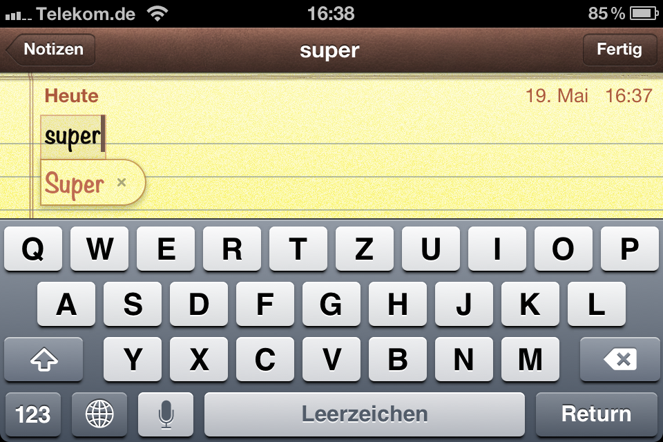 iPhone/iPad: Notiz (Bild: derappelt.de)